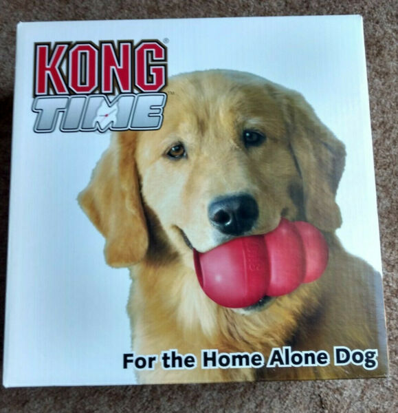 KONG TIME INTERACTIVE TOY DISPENSER DAYCARE FOR DOGS HOME ALONE NEW IN BOX PICS!
