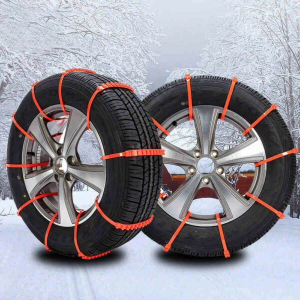 10PCS Car Anti-skid Snow Tyre Tire Wheel Chain Tendon Nylon Strap Belt 145-295mm