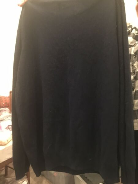 New NWT Tasso Elba Men's Dark Blue 100% Cashmere Sweater XXXL
