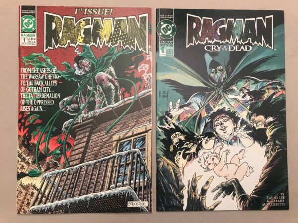 Ragman #1 1991 Cry of the Dead #1 1993 DC Comics Kubert cover 9.6-9.8
