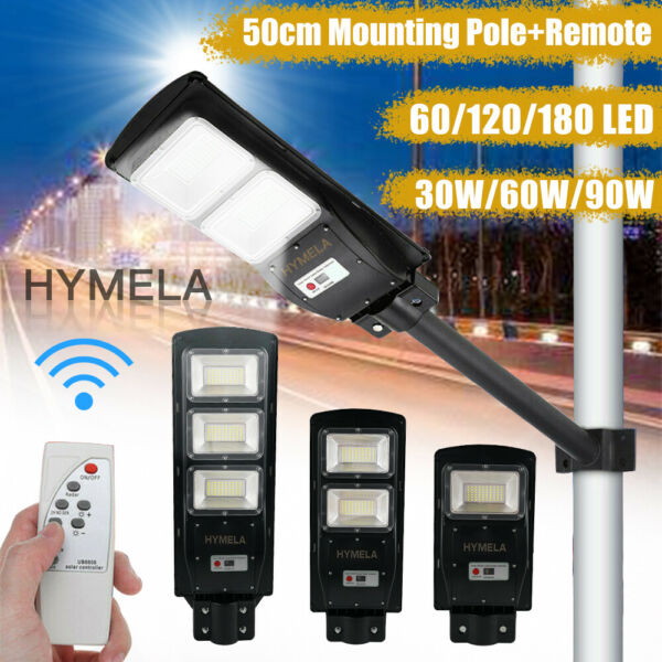HYMELA LED Solar Street Light Radar PIR Road Lamp Motion Sensor Security Outdoor $63.99