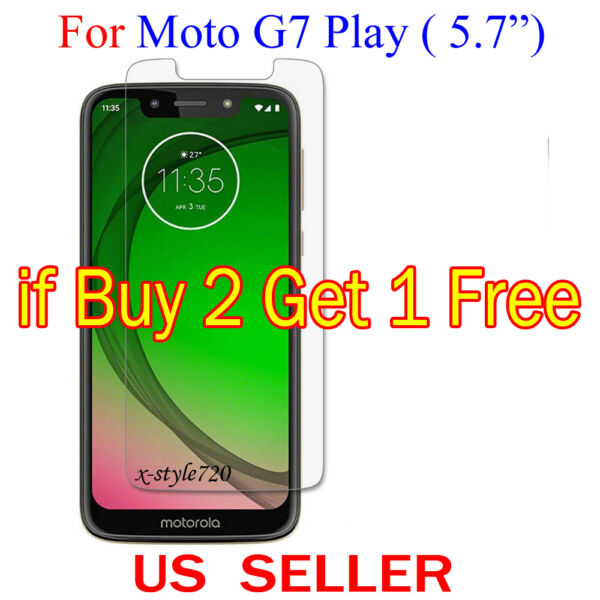 1x Clear LCD Screen Protector Guard Cover Film For Motorola Moto G7 Play (5.7