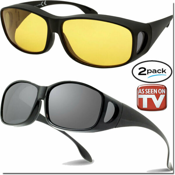 FIT OVER GLASSES NIGHT DRIVING HD AND FIT OVERS As Seen On TV SUNGLASSES FITOVER