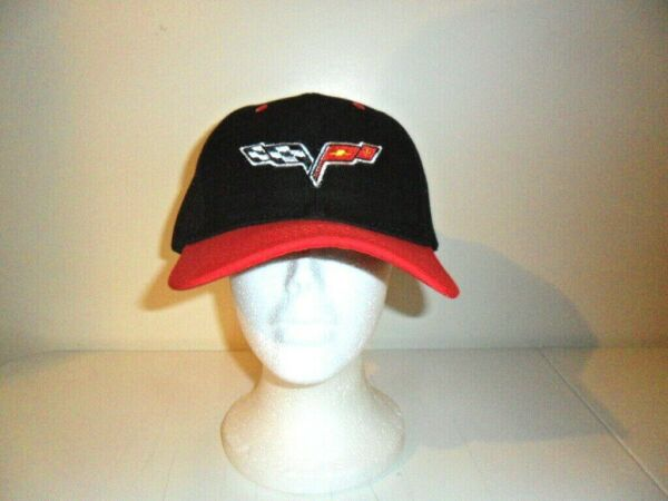 CHEVROLET CORVETTE HAT RED AND BLACK FREE SHIPPING GREAT GIFT $10.99