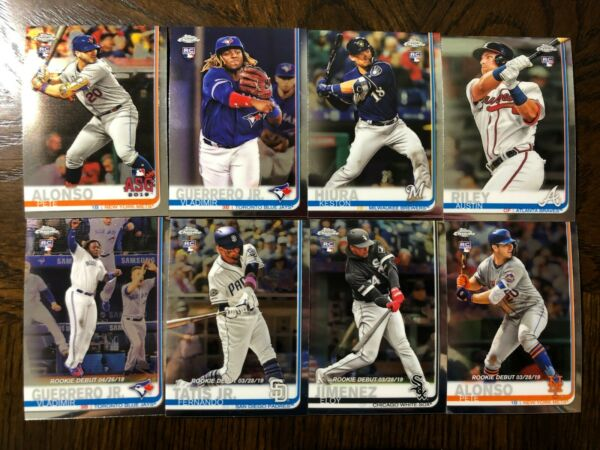 2019 TOPPS CHROME UPDATE RC CARDS + STARS #1-100