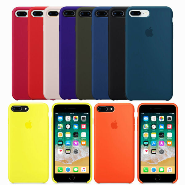 Genuine Original Soft Silicone Case Cover For Apple iPhone X 8 Plus 7 7Plus 6 6S