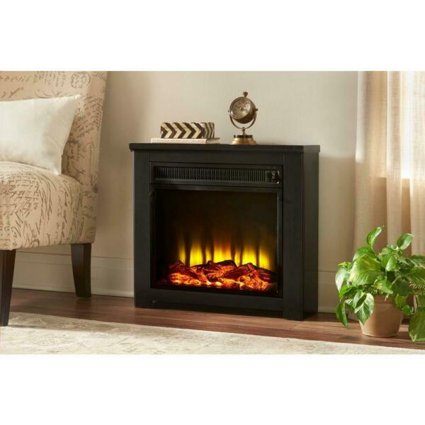 Freestanding Electric Fireplace 5200 BTU Room Heater Realistic Log Set Decor