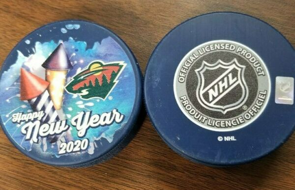 MINNESOTA WILD PUCK HAPPY NEW YEAR 2020 LIMITED EDITION PUCK