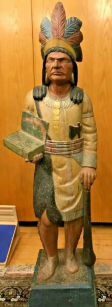 CIGAR STORE INDIAN TRADE SIGN ATTRIBUTED TO THOMAS BROOKS 1828-1895 CA.1885 NYC