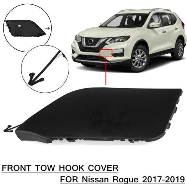 Front Bumper Tow Bracket Cover Cap For Nissan Rogue 2017 2018 2019 #622A0-6FL0H