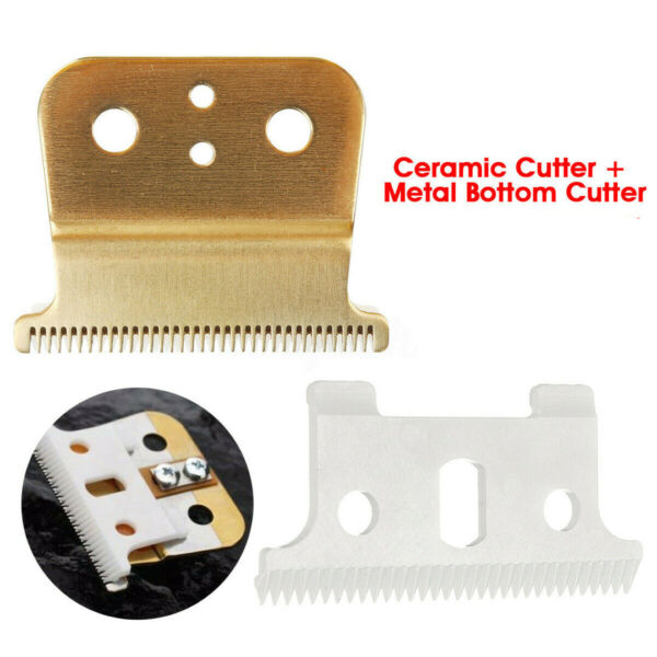 US 2PCS Ceramic Cutter Blade T-outliner Replace Set Fit For Andis Electric Shear