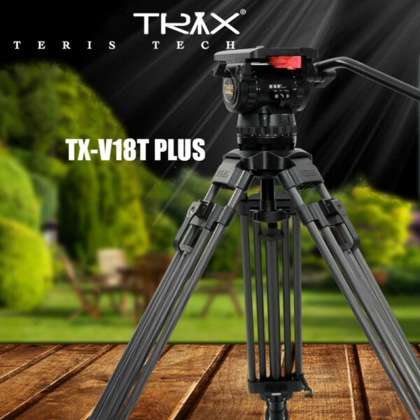 TERIS V18T 70quot; Carbon Video Tripod Professional Camcorder Tripod Fluid Head 18kg