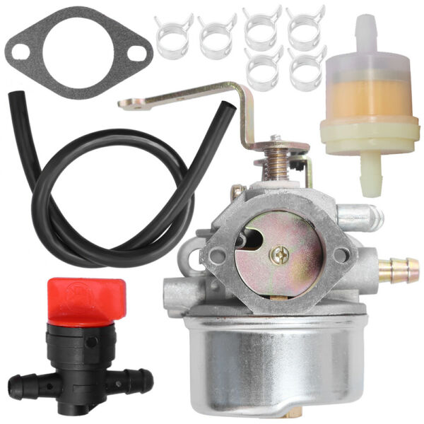 Carburetor For Tecumseh HM8090 HM100 810HPLH358EA Coleman wFuel Line Filter