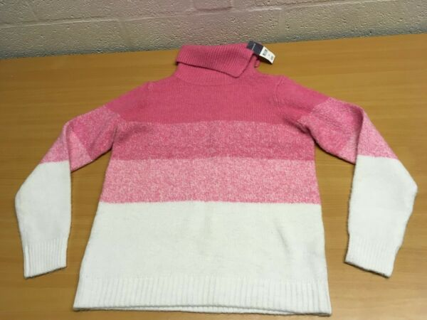 BONMARCHE SOFT TOUCH JUMPER PINK WHITE 10 NEW RRP £22