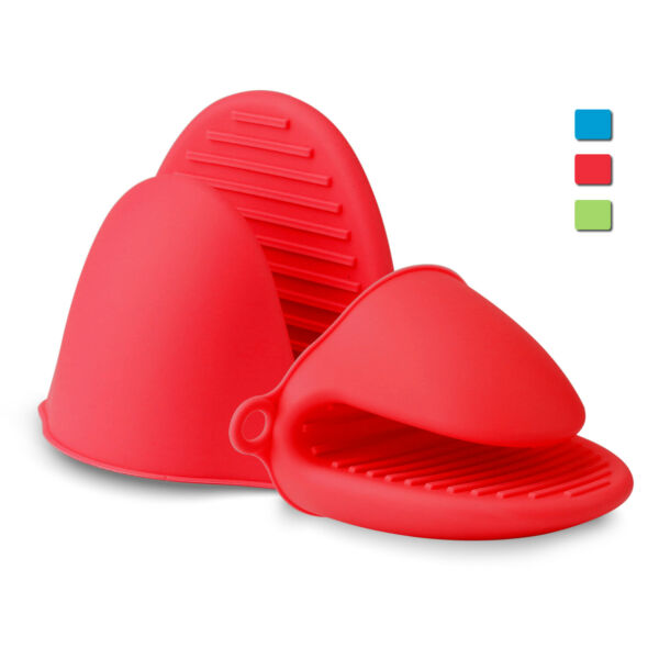 Mini Oven Mitts Heat Resistant Gloves Silicone Potholders Cooking Kitchen Baking