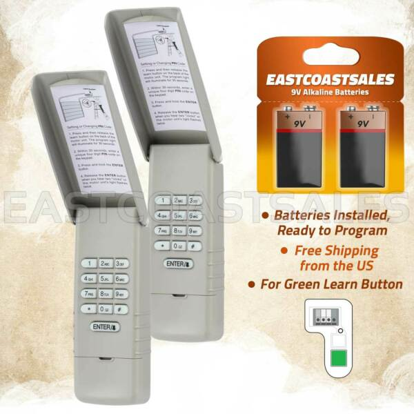 2 For Liftmaster 66LM 66LC Keypad Wall Garage Door Opener 81LM 83LM Green Learn $34.95