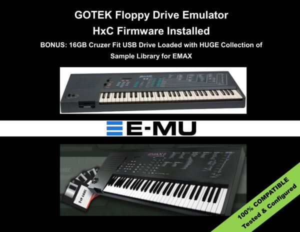 GOTEK HxC FLoppy Drive Emulator for EMU EMAX I & II  + SAMPLE LIBRARY Included