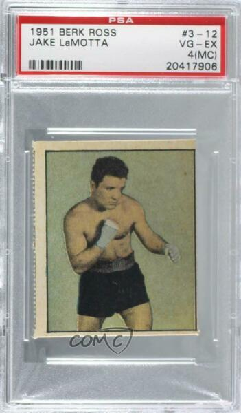 1951 Berk Ross Hit Parade of Champions Jake LaMotta #3-12 PSA 4