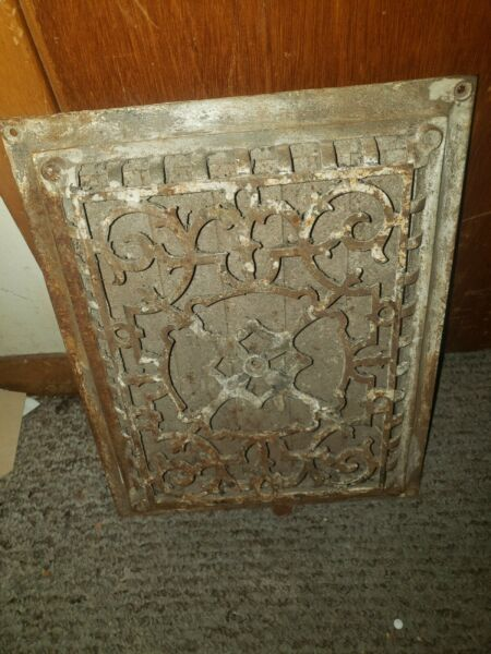 Antique Grate With Louvers Working Ornate 11x14