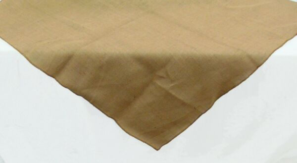 Burlap Tablecloth 40 X 40 Inch tight weave No Fray jute square Table Topper 40quot;