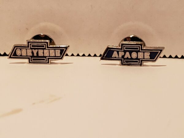 Lot of 4 Chevy Truck Bow ties Logos hat pins