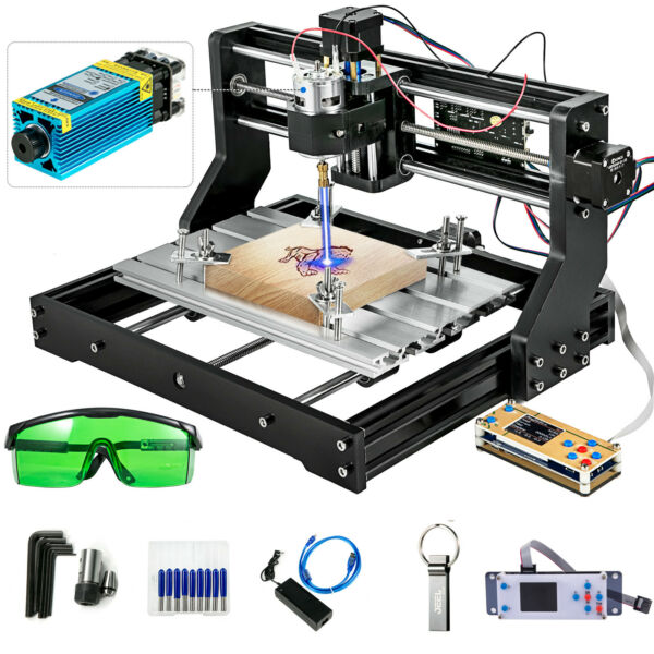 CNC 3018 PRO Machine Router 3 Axis Engraving Offline Control5500mw Laser Head $241.99