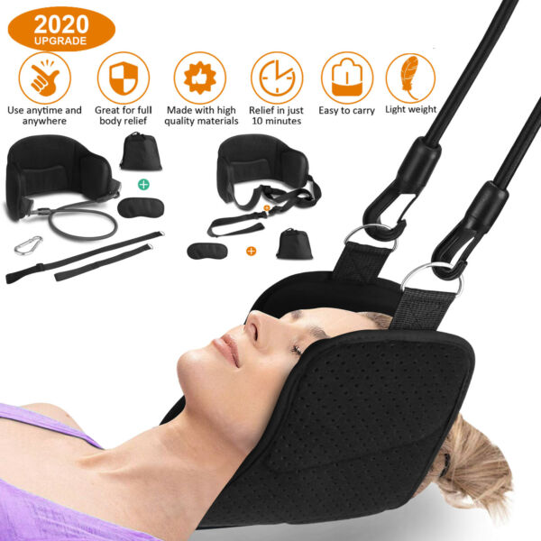 Neck Head Hammock Relief Pain Muscle Massager Cervical Traction Device Stretcher