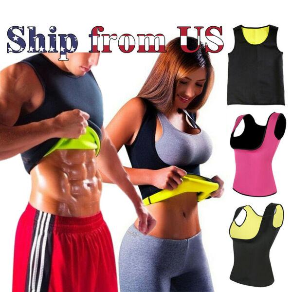 Men amp; Women Sauna Sweat Slimming Trainer Vest Neoprene Yoga Thermal Body Shaper
