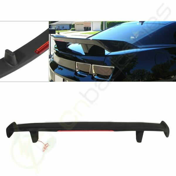 High Wing ABS Trunk Spoiler & LED 3rd Brake Light For 2010-2013 Chevy Camaro GM