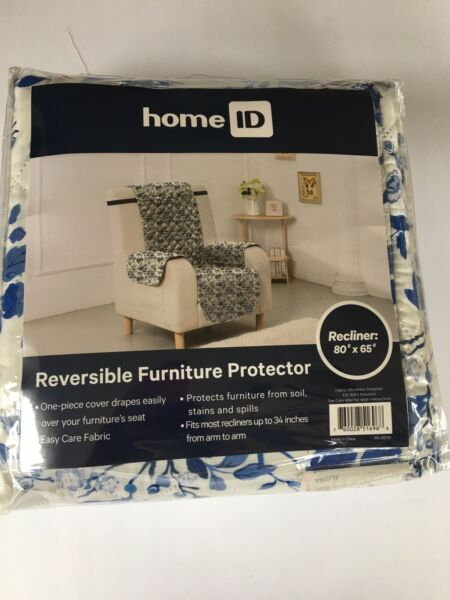 "HOME ID Reversible Furniture PROTECTOR For Recliner 80"" By 65 ""NWT NEW $10.00"
