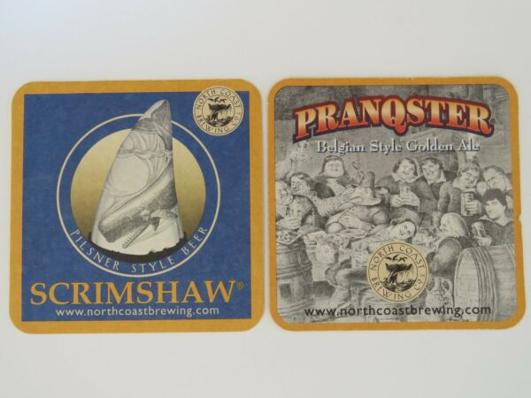 BEER COASTER: North Coast Brewing Pranqster Belgian Golden Ale Scrimshaw Pilsner