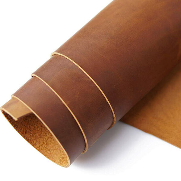 5-6OZ Leather Grain Cowhide Genuine leather Square for CraftsToolingHobby USA