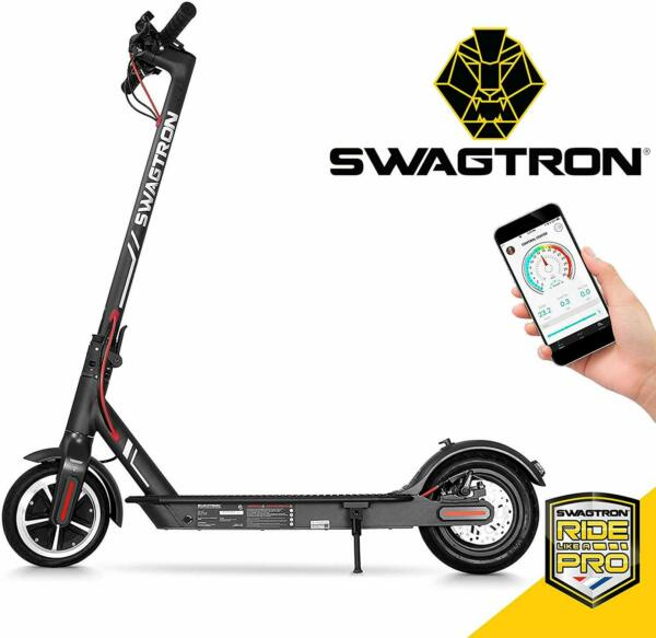 Swagtron Swagger 5 Electric Scooter Folding amp; Portable Cruise Control High Speed
