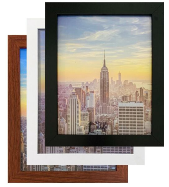 Frame Amo Black Wood Picture Frame or Poster Frame 1 Inch Wide Refurbished