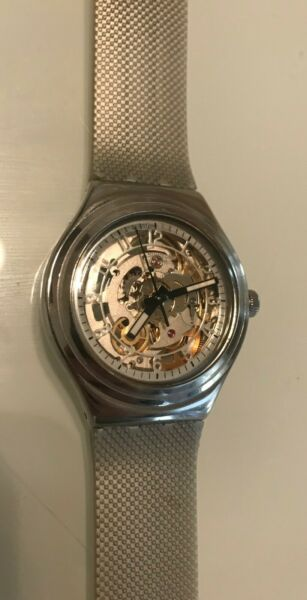 Swatch Irony Uncle Charly Steel Automatic Medium Watch 38mm YAS112G  $110.00