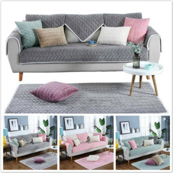 Thicken Non slip Slipcover Sofa Couch Mat Stretch Protector For Living Room QK $29.09