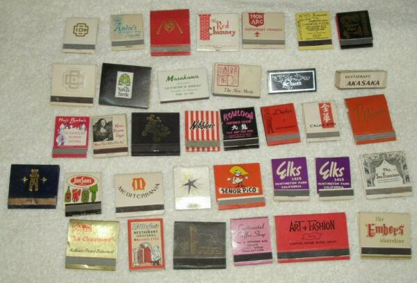 Lot of  35 Vintage Los Angeles & Environs CA Matchbooks Restaurants Venues #2