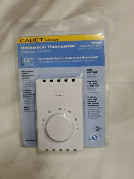 New Cadet T410A Mechanical Thermostat Single Pole Free Shipping