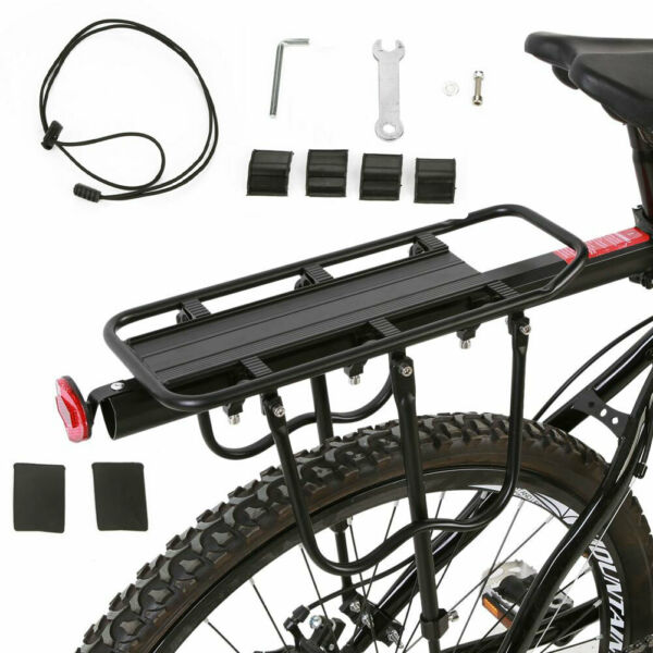 Bike Rear Rack Seat Luggage Carrier Bicycle Post Pannier Cycling Aluminum Alloy $27.81