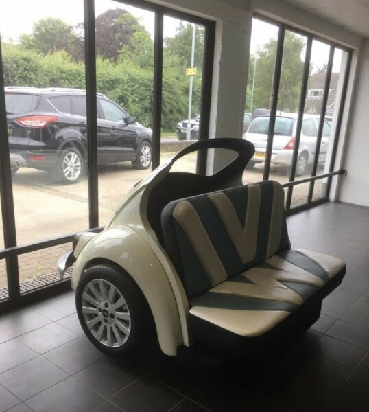 Classic VW Beetle Sofa Beetle Booth Cool Couch VW bug Seat Car Furniture Herbie GBP 4800.00