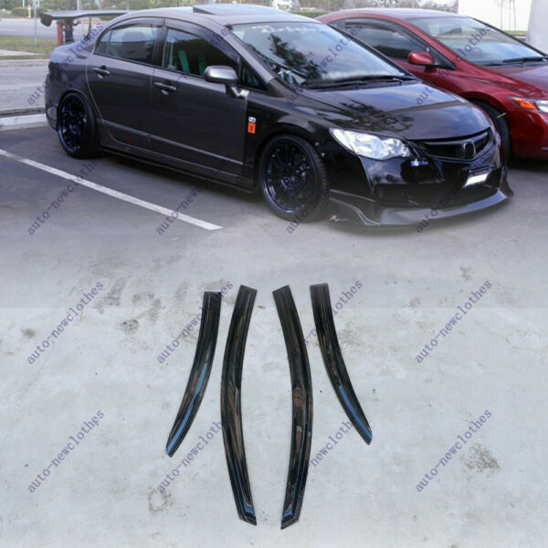 For 2006-2010 2011 Honda Civic Sedan Window Visors 3D Style Sun Rain Guard Shade