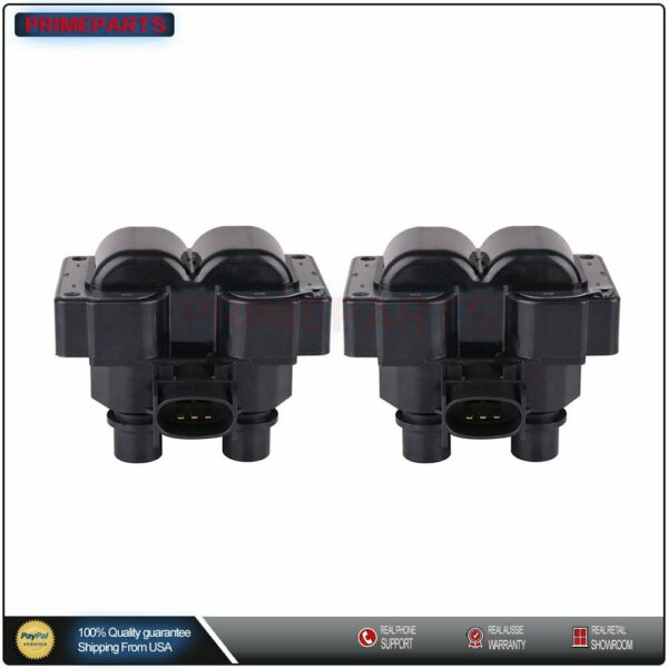 2PCS Ignition Coil For Ford Ranger F150 Escort Lincoln Mazda 2.3L 4.6L FD487