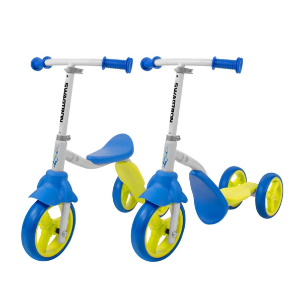 K2 Toddler 3 Wheel Scooter & Ride-On Balance Trike 2-in-1 Adjustable for 2 3 5