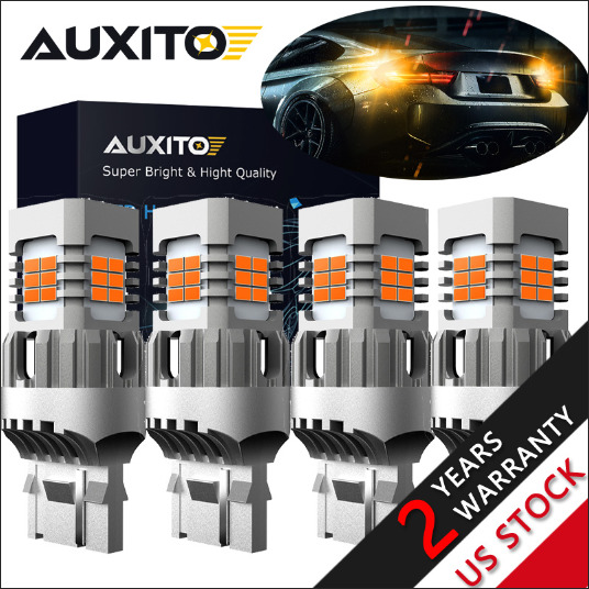 AUXITO 4X 1156 BA15S 39-LED Amber Yellow Rear Turn Signal Blinker Light Bulb EAJ