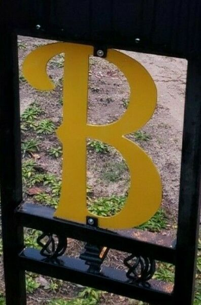 Single Metal Letter Outdoor Indoor LARGE 16 Inches $24.99
