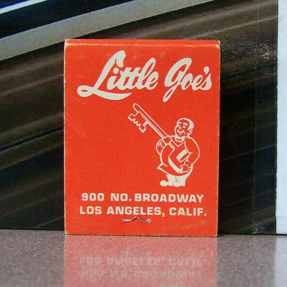 Vintage Matchbook X3 Los Angeles California Little Joe's Broadway Funny Key Guy