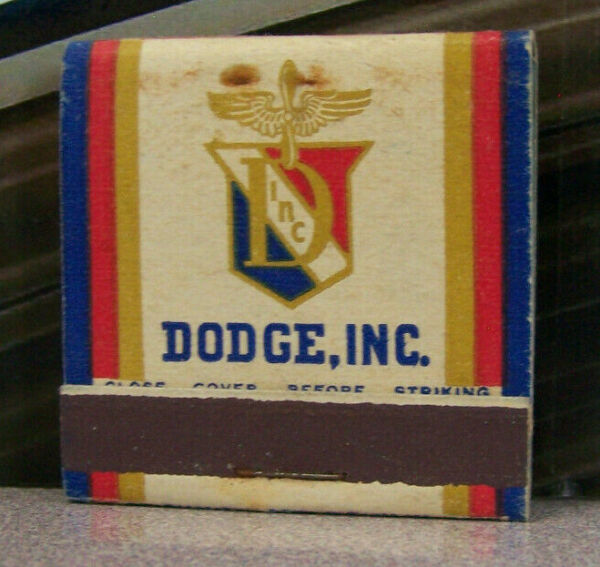 Vintage Matchbook M5 Los Angeles California Chicago Illinois Dodge Cars Feature