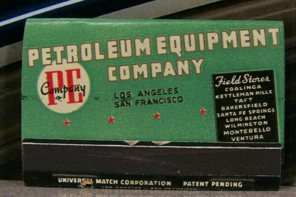 Vintage Matchbook M5 California Los Angeles San Francisco Petroleum Oil Equip