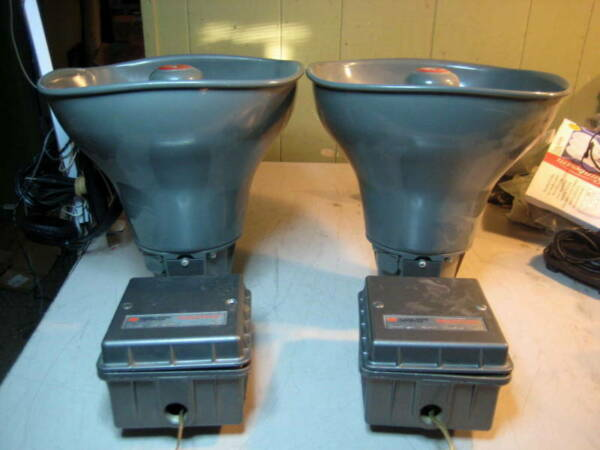 FEDERAL SIGNAL CORPORATION SELECTONE HORN SPEAKER 302GC 24 VOLTS