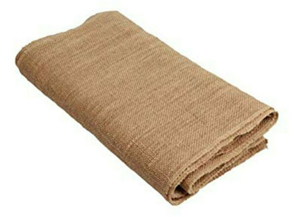 Burlap Table Runner with fringe drop Edges 14quot; X 120quot; tan 10 feet tight weaved